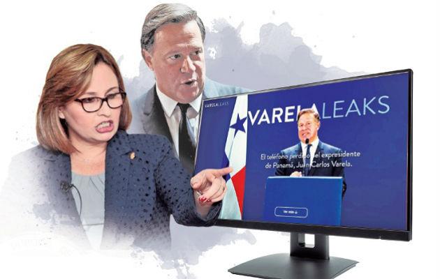 La procuradora Kenia Porcell dijo que el martes se referiría a los 'Varelaleaks'. Ilustración: Adiel Bonilla.