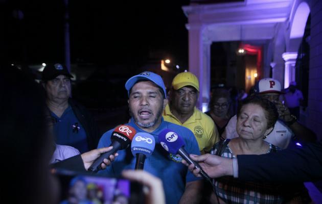 Fernando Ábrego, representante de Asoprof fue la voz de los gremios. /Víctor Arosemena