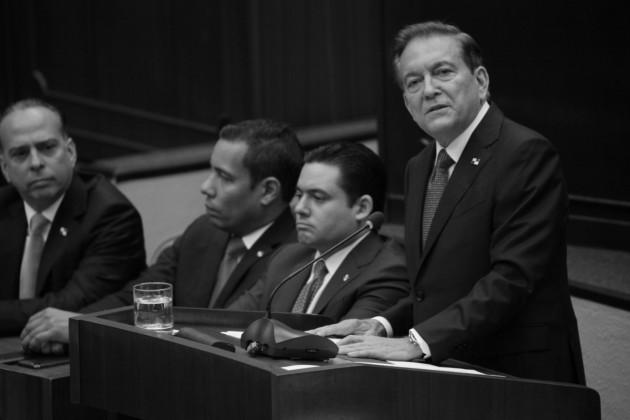 El presidente Laurentino Cortizo rindió informe a la nación, de sus seis meses de gobierno, en la ceremonia de instalación de la segunda legislatura del primer periodo de sesiones ordinarias de la Asamblea Nacional. Foto: Víctor Arosemena. Epasa.