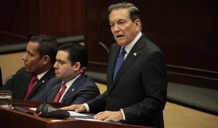 El presidente Laurentino Cortizo reconoció que lo que debería existir es una política de Estado sobre seguridad y que no haya planes de gobierno en gobierno. Archivo