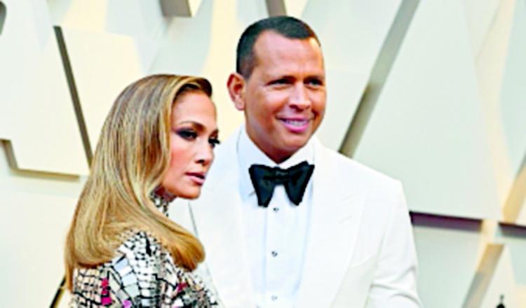Jennifer López y Alex Rodríguez.