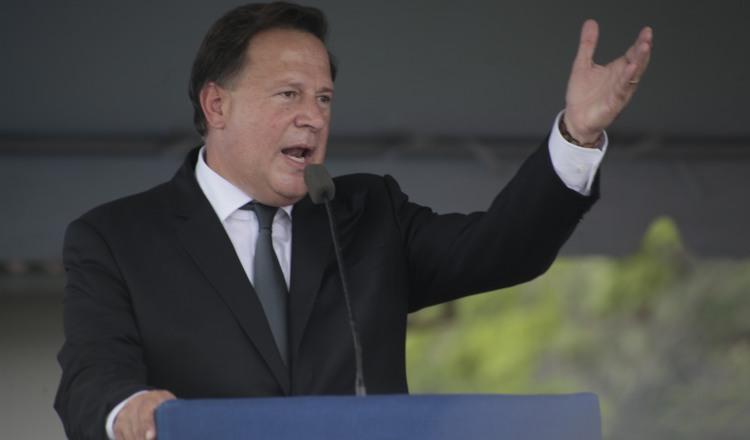 Crispiano Adames hizo fuertes señalamientos en contra del expresidente Juan Carlos Varela. Archivo