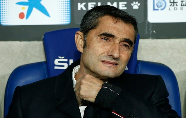 Ernesto Valverde técnico del Barcelona. Foto:AP