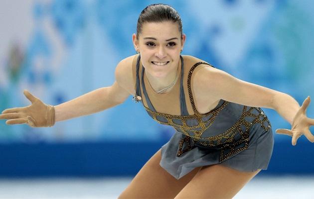 Adelina Sotnikova en las Olimpiadas de Invierno.