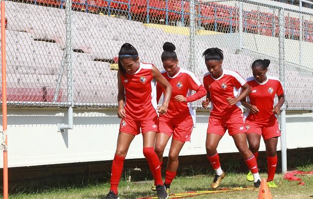 Jugadoras de la selección femenina de Panamá. Foto:Ayansi Gamez
