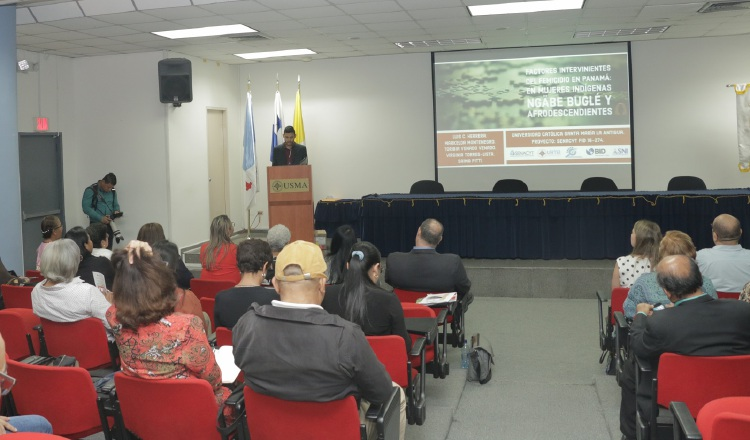 Durante la presentación. Cortesía/Senacyt