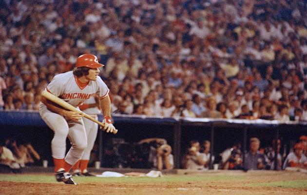 Pete Rose en su época de jugador con Cincinnati. Foto:AP