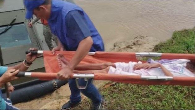 Las autoridades hallaron en una remota población peruana a la mujer de origen colombiano de 40 años y a sus hijos que duraron perdidos 34 días en la selva amazónica, informó este domingo la Armada colombiana.