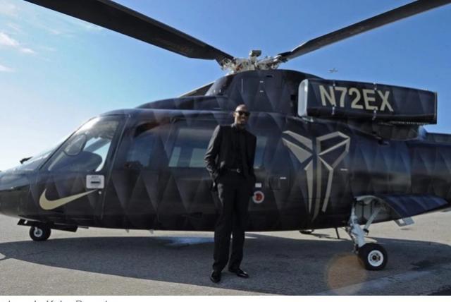 Helicóptero de Kobe Bryant . Foto: Tomada de Infobae