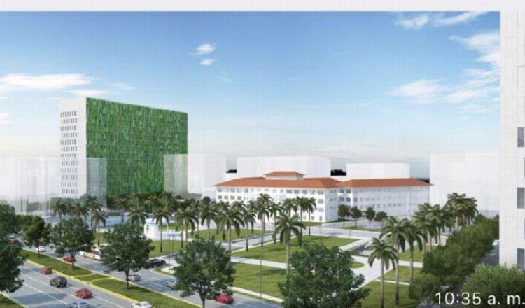 Perspectiva de lo que deberá ser la nueva sede del Hospital del Niño, una obra esperada hace más de una década y que no se define. Imagen de archivo