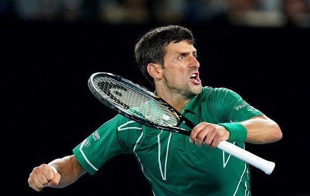 Novak Djokovic festeja su triunfo. Foto:EFE