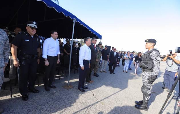 El presidente Laurentino Cortizo dijo a las unidades de la Policía Nacional y del resto de la Fuerza Pública a que cumplan con su deber se servir a Dios y a la Patria.