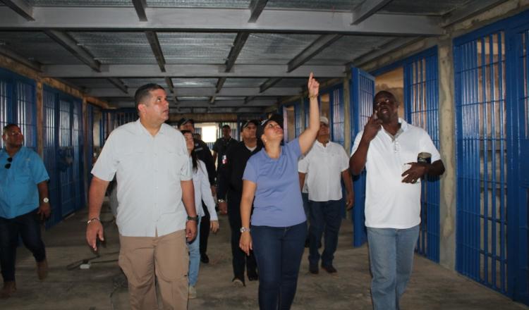 Autoridades realizaron recorrido por el Complejo Penitenciario La Joya. Cortesía