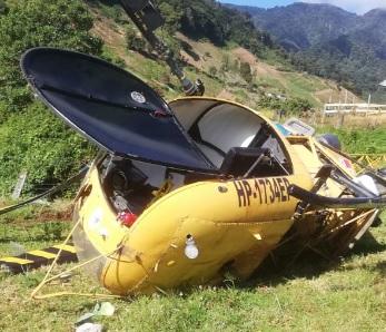 El helicóptero HP-1734EP cayó en el área de Cerro Punta.