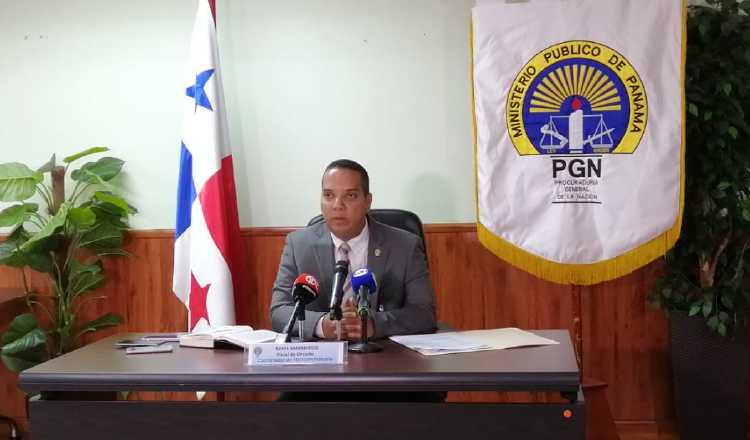 El fiscal Azael Samaniego rindió el informe del año pasado. Foto de cortesía