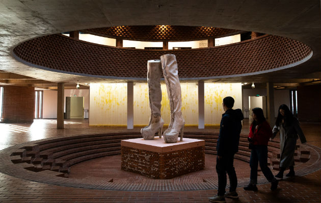 Los científicos creen que la exposición a las artes da un sentido de propósito. El Red Brick Art Museum en Beijing. Foto / Roman Pilipey/EPA, vía Shutterstock.