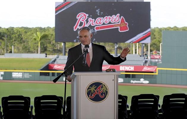 Rob Manfred , comisionado de las Grandes Ligas. Foto:AP