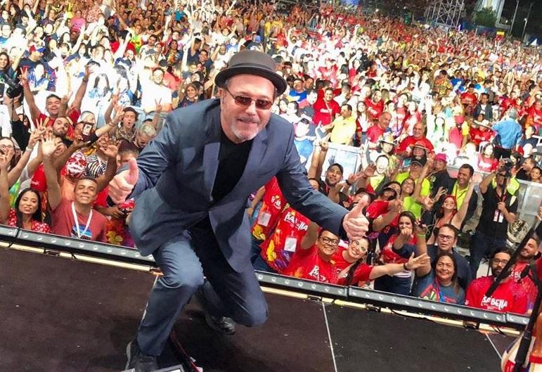 Rubén Blades en un concierto en Barranquilla. Foto: Instagram