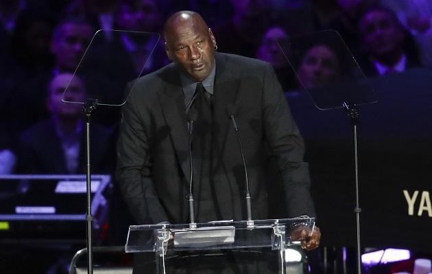Michael Jordan no ocultó su dolor.