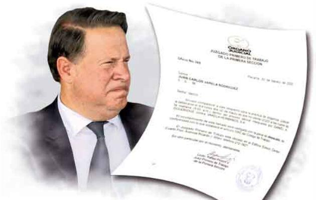 El juez citó a Juan Carlos Varela a través del oficio número 369, para las 9:00 a.m. del día 2 de marzo próximo.
