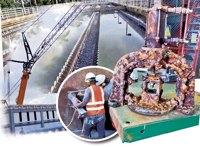 Producto de las obras de mantenimiento que se realizaron en la planta durante los días de Carnaval, quedó en evidencia la fuga que será evaluada.