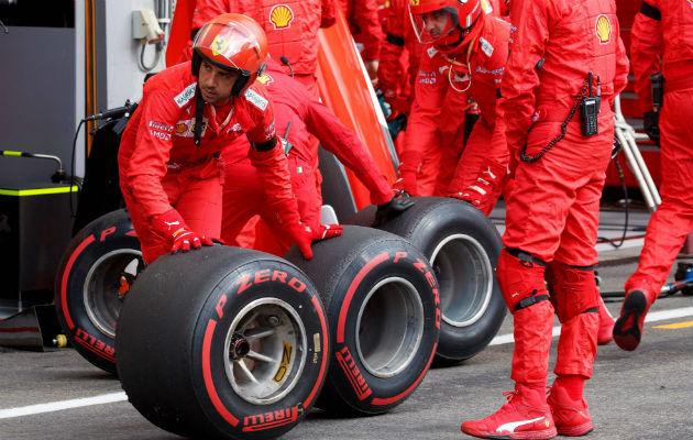 Pirelli Cyber Tire envía advertencias de tracción para que conductores hagan ajustes. Carrera de Fórmula 1. Foto / Valdrin Xhemaj/Agence France-Presse — Getty Images.