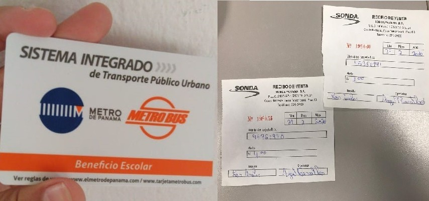 Usuarios presentan recibos que prueban de que sí pagaron por la tarjeta estudiantil, a pesar de que la adquirían por primera vez.