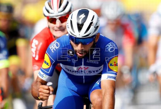 Fernando Gaviria corre para el UAE Team Emirates. Foto EFE