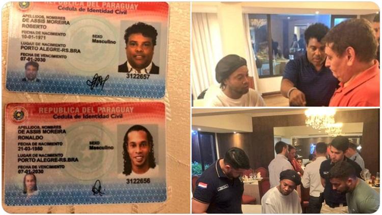 La fiscalía de Paraguay compartió fotos del arresto de Ronaldinho y su hermano.