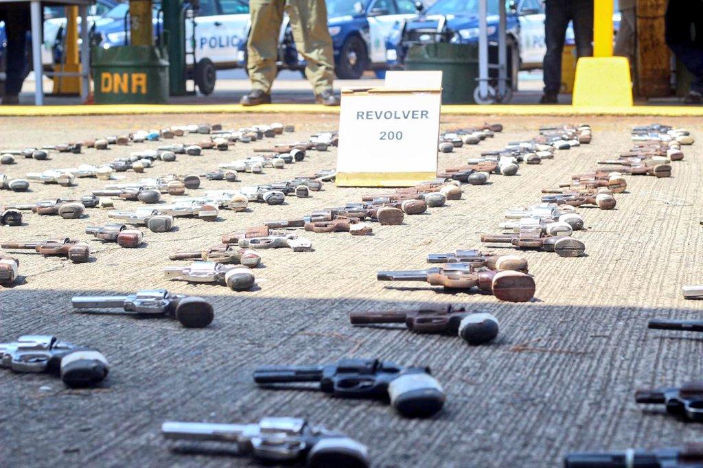Policía Nacional ha destruido alrededor de 1,106 armas