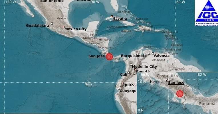 El primer sismo según el Instituto de Geociencias se registró a eso de las 9:15 de la noche con una magnitud de 4.2 al este de Volcán en Chiriquí, con una profundidad de 30 km y se sintió en toda la provincia chiricana.