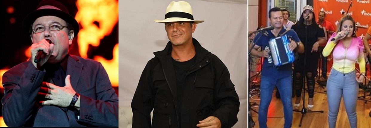 Rubén Blades, Alejandro Sanz y los hermanos Sandoval.
