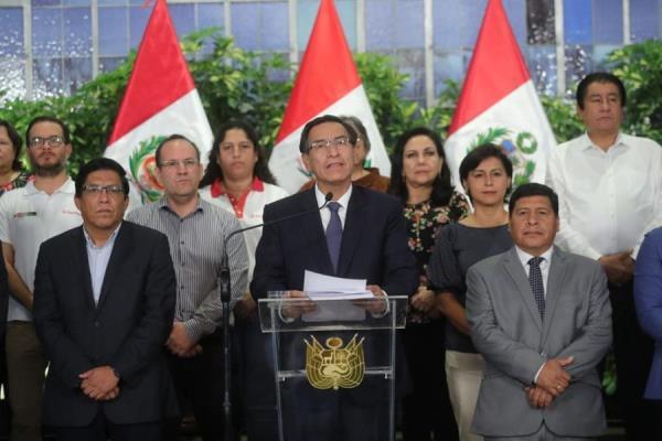 El presidente Martín Vizcarra, en compañía del Consejo de Ministros da un mensaje a la Nación sobre las nuevas medidas contra el COVID-19