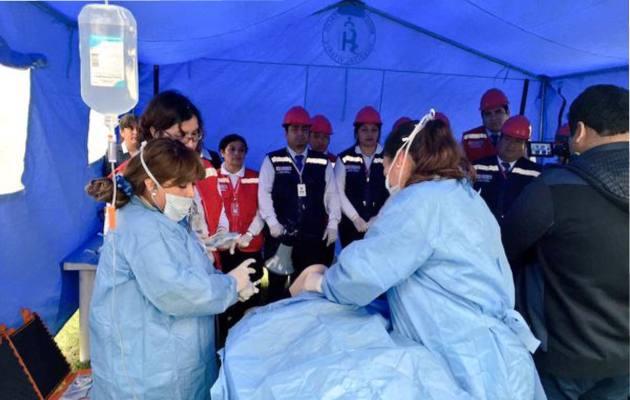 El primer módulo para atender a posibles casos de coronavirus se instaló en el centro de salud de Pueblo Nuevo.