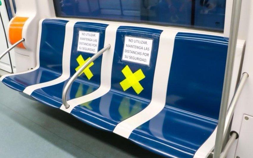 Se han tomado todas las medidas indicadas por el Minsa, el distanciamiento de dos metros en los andenes. Foto: Metro de Panamá
