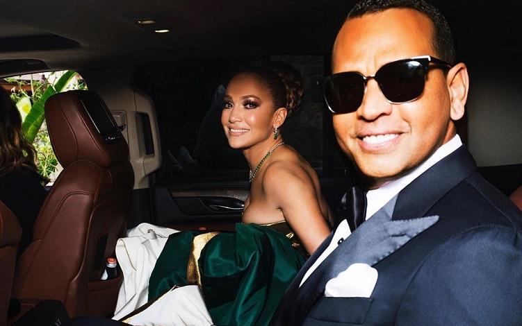 Jennifer Lopez y Alex Rodríguez. Foto. Instagram
