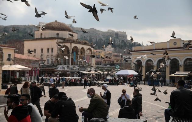 La economía de Grecia depende del turismo y pequeños negocios. La Plaza Monastiraki, en Atenas. Foto / Costas Baltas/Reuters.
