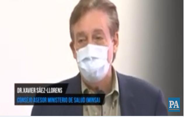 Intectólogo Xavier Sáez-Llorens habla de los pacientes recuperados de COVID19.