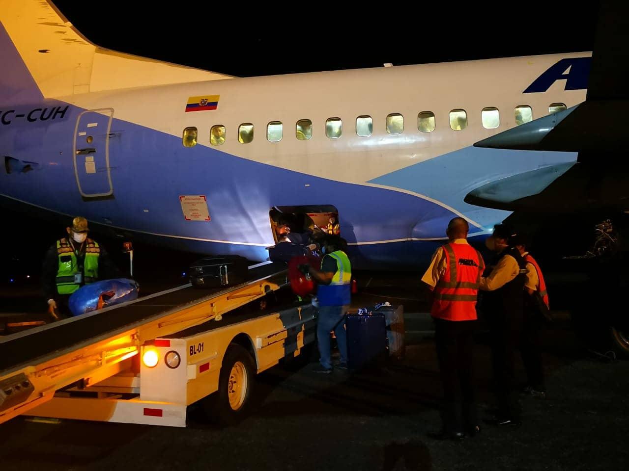 El sábado salió un vuelo hacia Ecuador con insumos médicos para combatir el COVId-19. Foto de cortesía