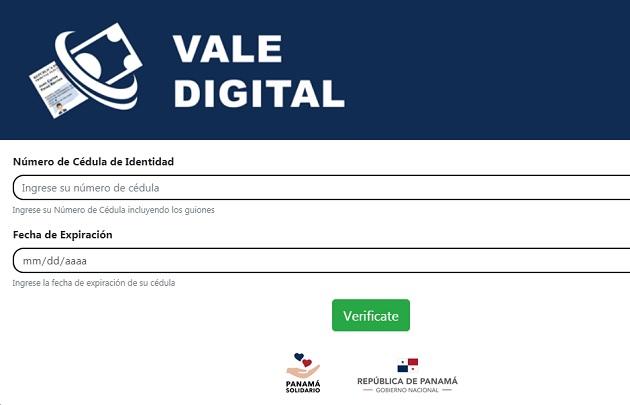 El pago del vale digital busca darle apoyo a los panameños afectados por la pandemia de COVID-19.