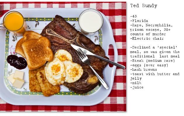 El fotógrafo Henry Hargreaves recreó esta comida de asesino en serie. Foto / Henry Hargreaves.