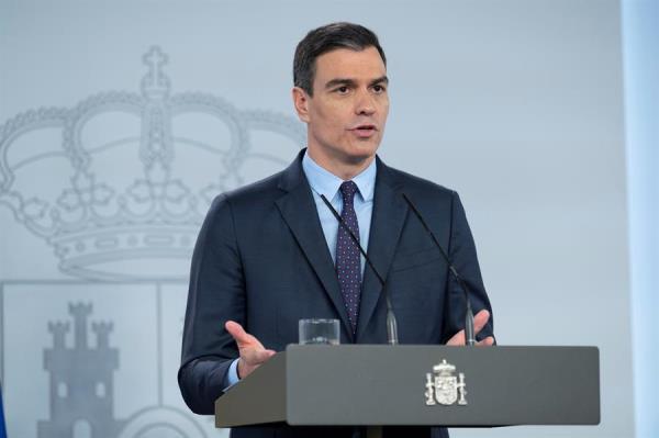 Pedro Sánchez, informa sobre las nuevas medidas que se adoptarán en el país para un retorno gradual. FOTO/EFE