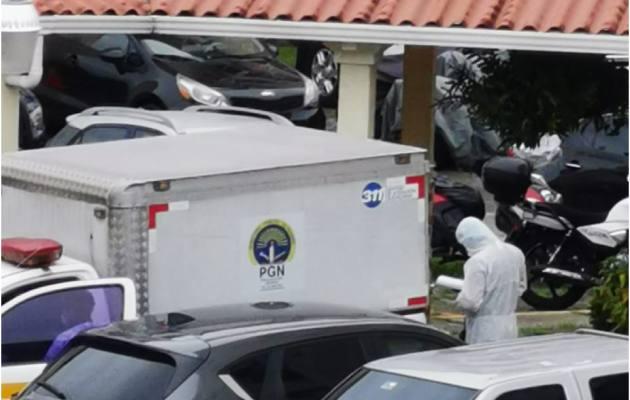 Los vecinos del lugar sintieron un fuerte olor y llamaron a unidades de la Policía Nacional.