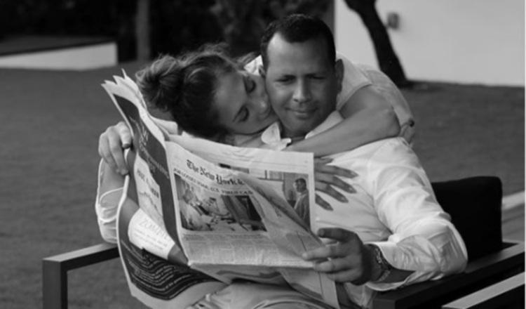 Jennifer López y a su prometido Alex Rodríguez. Instagram