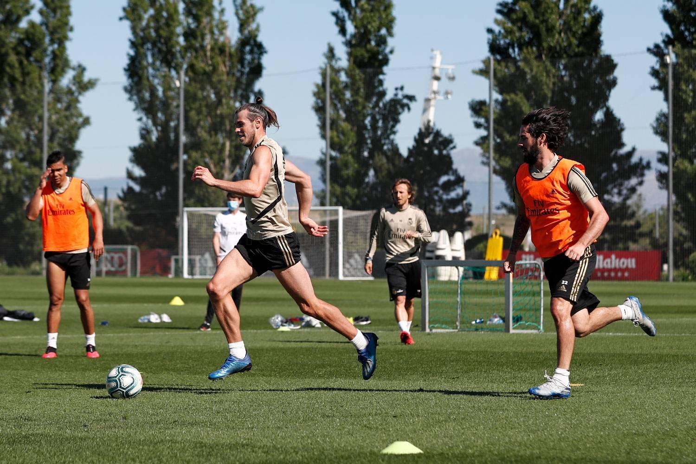 Jugadores de Real Madrid en los entrenamientos. Foto:Real Madrid @realmadridnote
