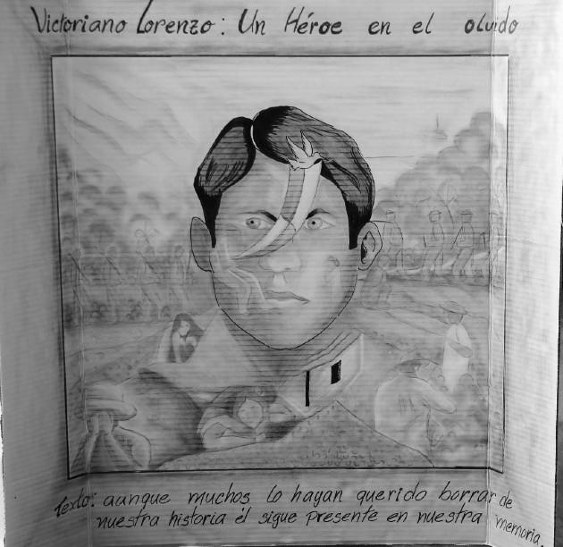 Cuadro de Victoriano Lorenzo, presentado en un homenaje que le hiciera la Universidad Tecnológica de Panamá, en 2018. Victoriano Lorenzo fue fusilado el 15 de mayo de 1903. Foto: Página de la UTP.