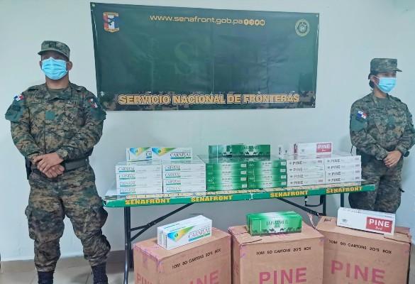 La mercancía fue remitida a las autoridades de Aduanas para los procedimientos correspondientes.