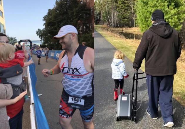 A Ben O'Donnell, competidor del Ironman, le dijeron que tal vez nunca recupere toda su capacidad pulmonar, tras contraer COVID-19.