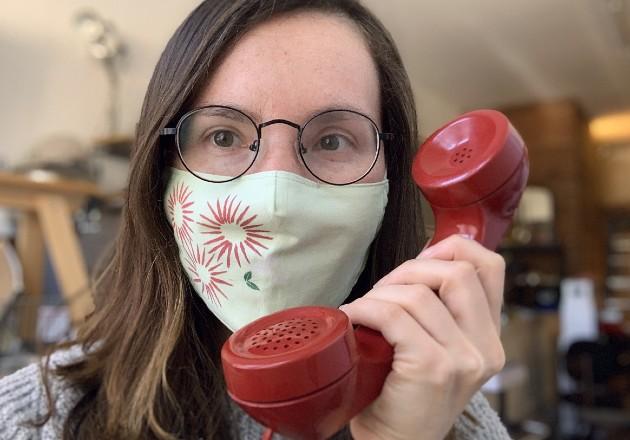 Danielle Baskin cofundó QuarantineChat, una app que conecta a dos extraños para conversar por teléfono. Foto / vía QuarantineChat.