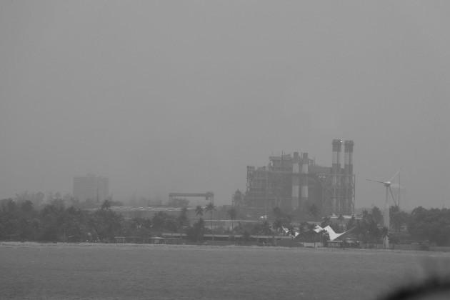 Puerto Rico amaneció este martes envuelto en polvo del Sahara. Área de Cataño. El polvo es rico en fósforo, que es la principal fuente de nutrientes para el Amazonas. Foto: EFE